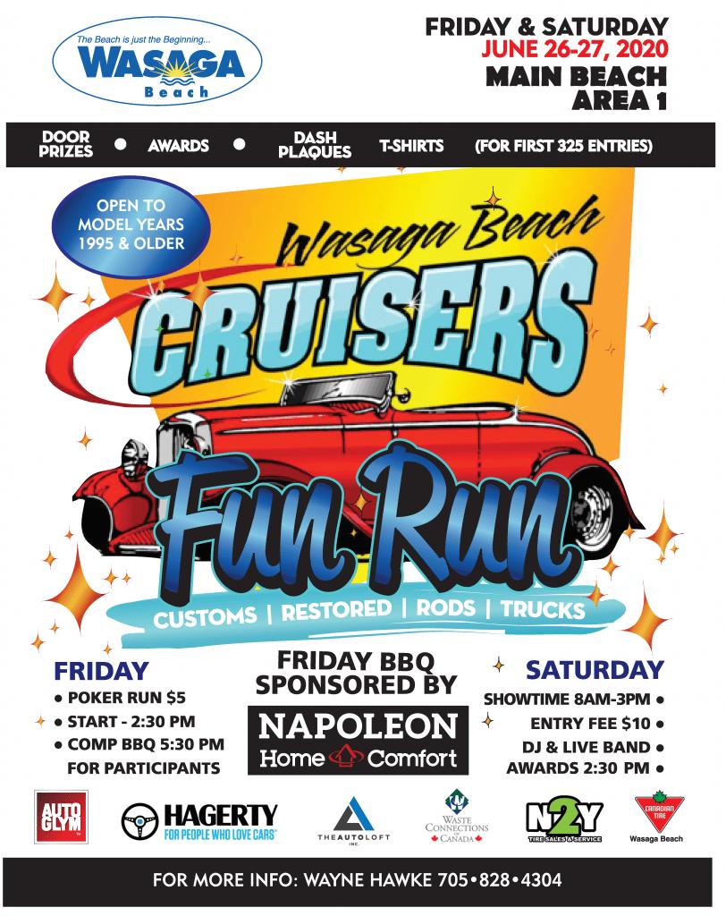 2020 Wasaga Beach Cruisers Fun Run
