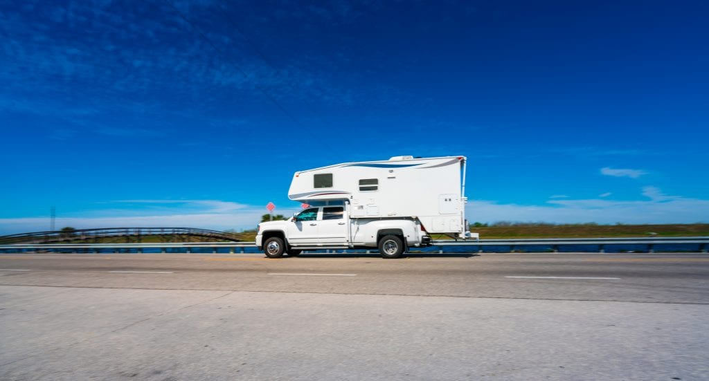 Motor home on the highway