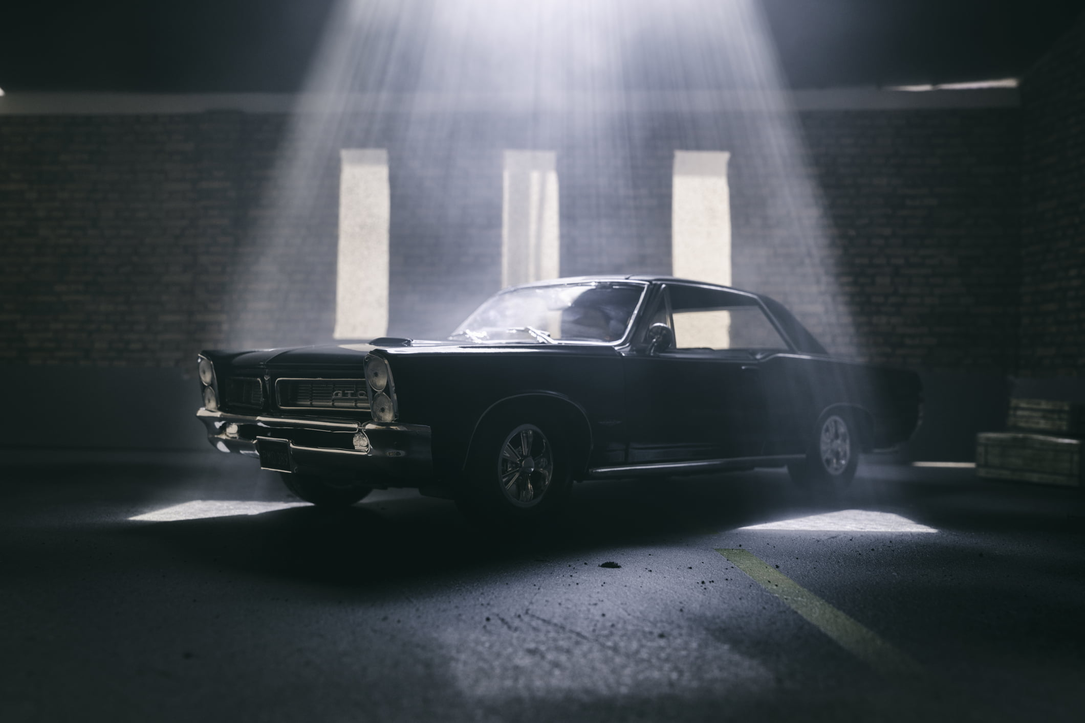 Model Pontiac GTO In Atmospheric Garage