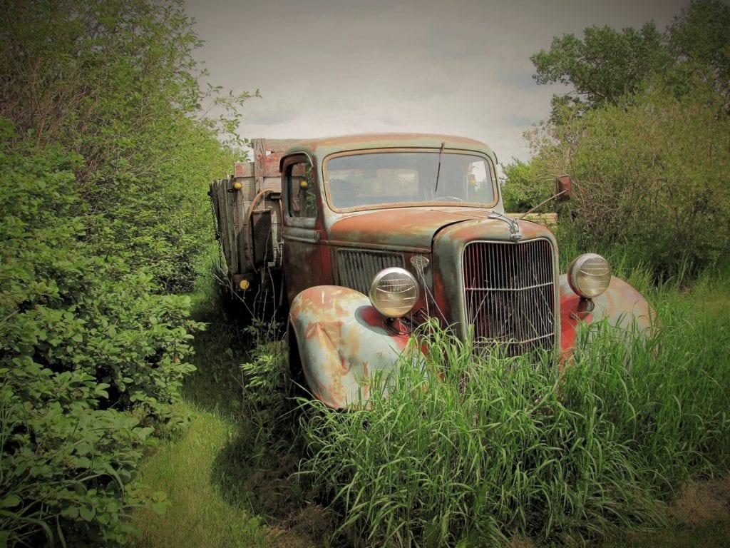 Vintage 1940s Grain Truck