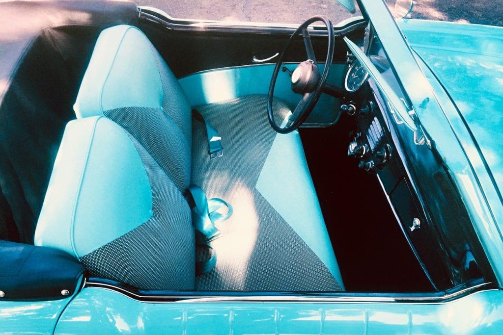 Classic American Car Aqua interior
