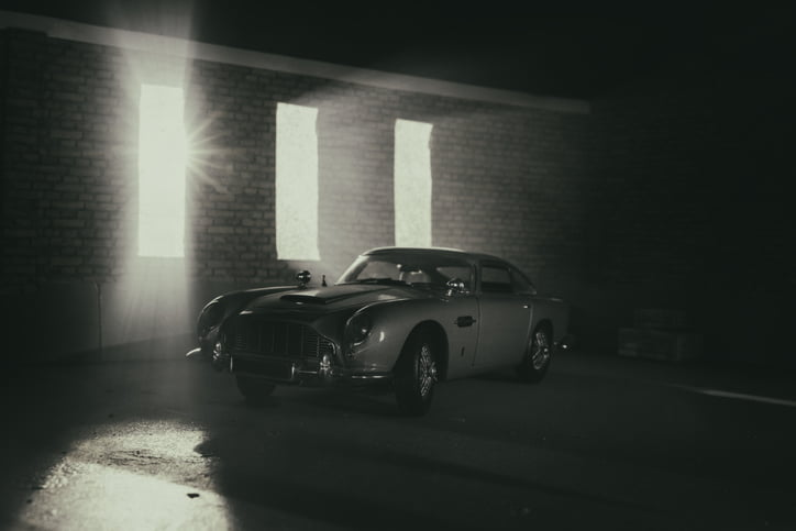 Model Aston Martin DB5 In Atmospheric Garage