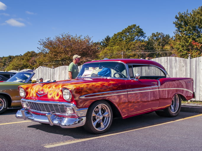 1956 Chevrolet Bel Air with flamed paint