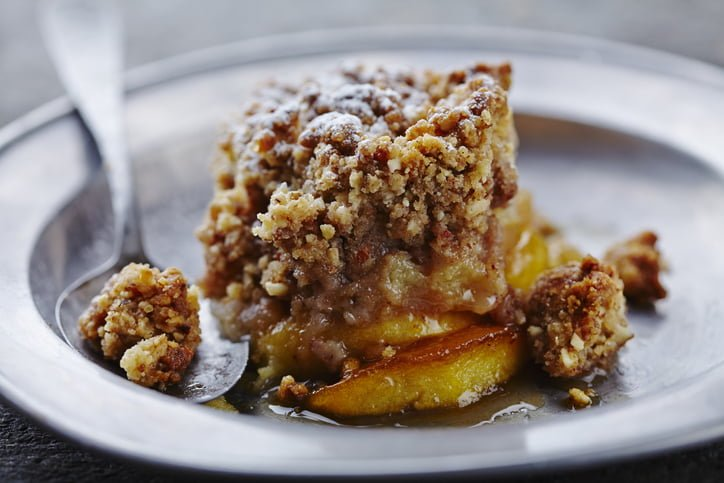 no bake apple crumble