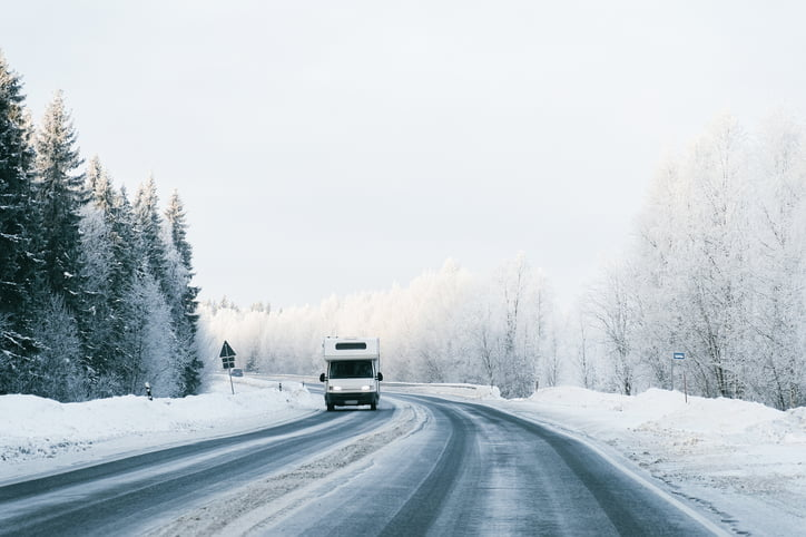8 Things You Should Know Before Driving Your RV on Ice