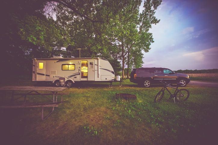 RV Boondocking at a remote campsite.